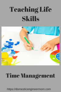 Time management. Teaching a life skill to children