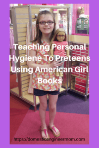 Personal Hygiene and American Girl Books