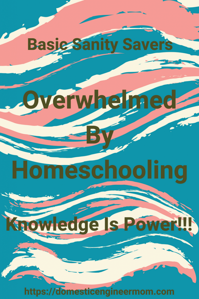 overwhelmed by homeschooling