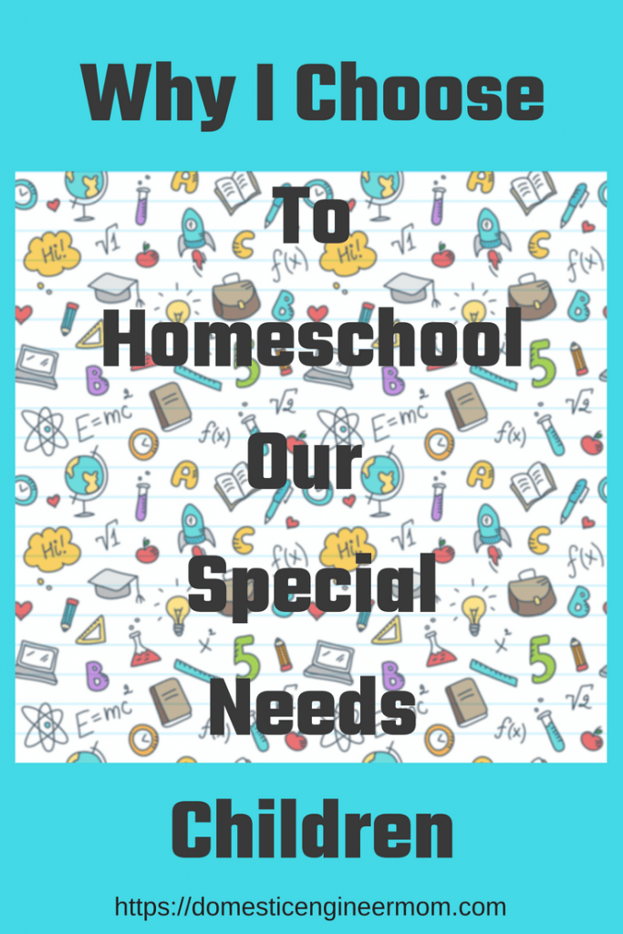 homeschooling special needs children